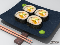 3d futomaki california roll model