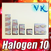 3d halogen lamp 10