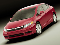honda civic 2012 3d 3ds