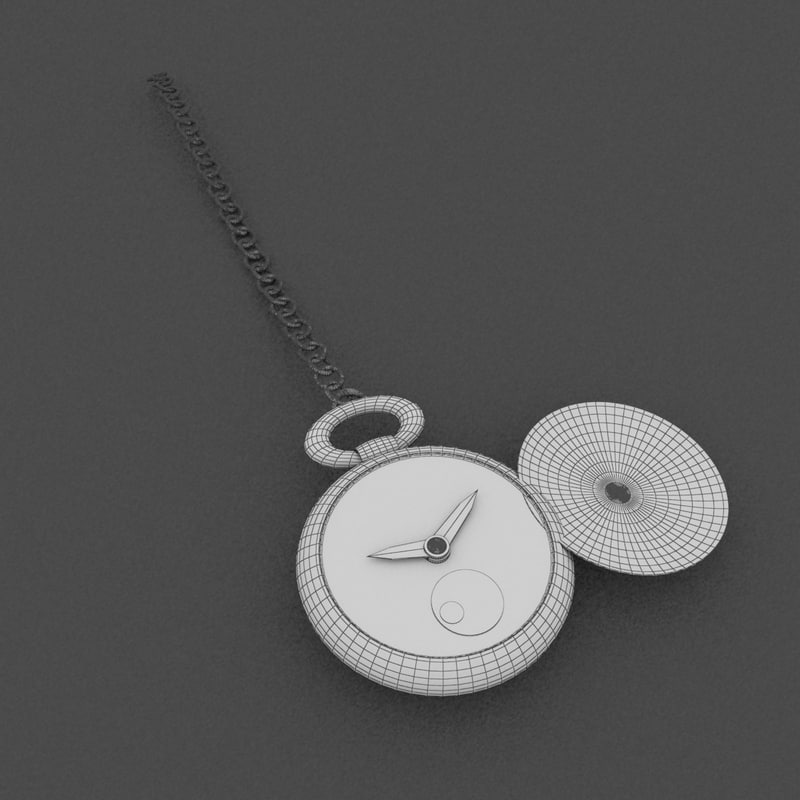3ds max pocket watch