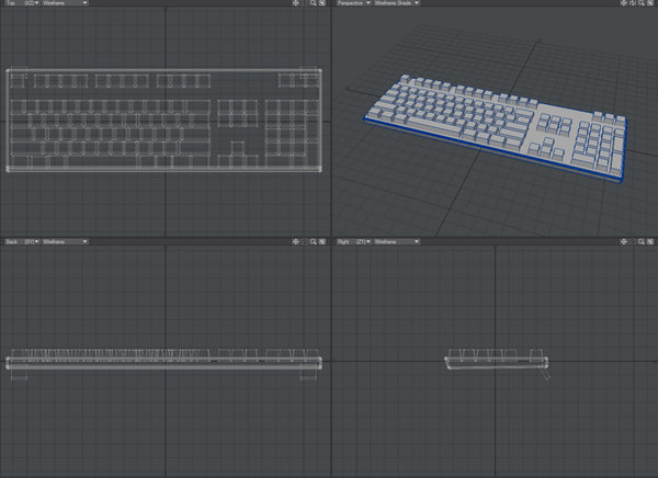 free basic keyboard 3d model