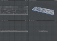 free basic keyboard 3d model