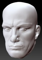 3d model sculpture head vladimir mayakovsky