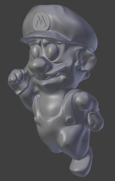 3d model of mario jumping stereolithography