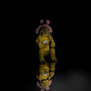 3d mayan statue model