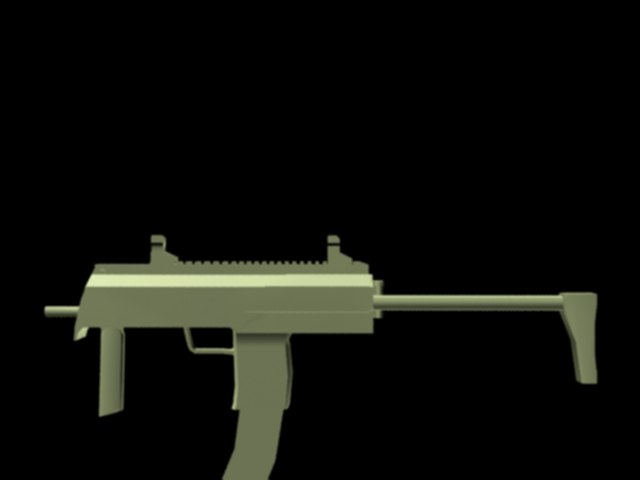 sub machine gun 3d model