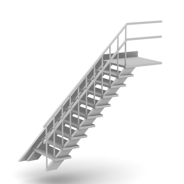 old stairs 3d 3ds