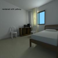 simple room 3d blend