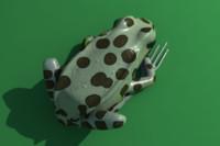 obj leopard frog animation