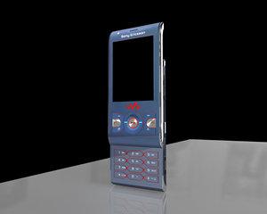 sonny-ericsson-w595 phone 3d max
