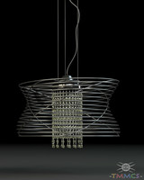 3d max wire lamp - style