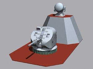 3d ak-176 76 gun mount model