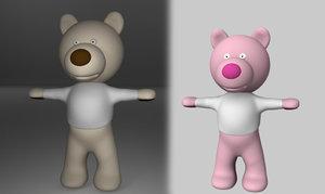 toy bear obj