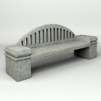 3d model concrete bench