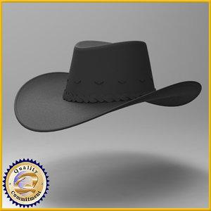 3d hat cowboy cow