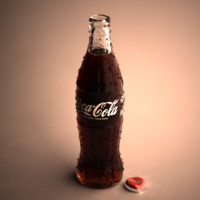 3d coke bottle model