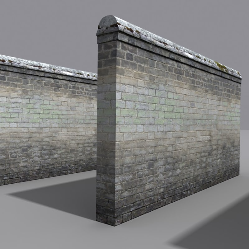 3d model of weathered wall coz080504025