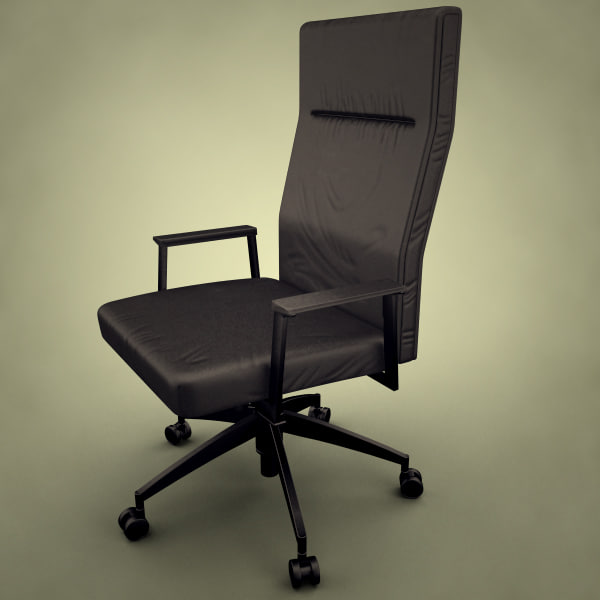 modern office executive chair 3d model