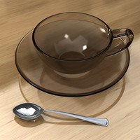 3D cup and spoon