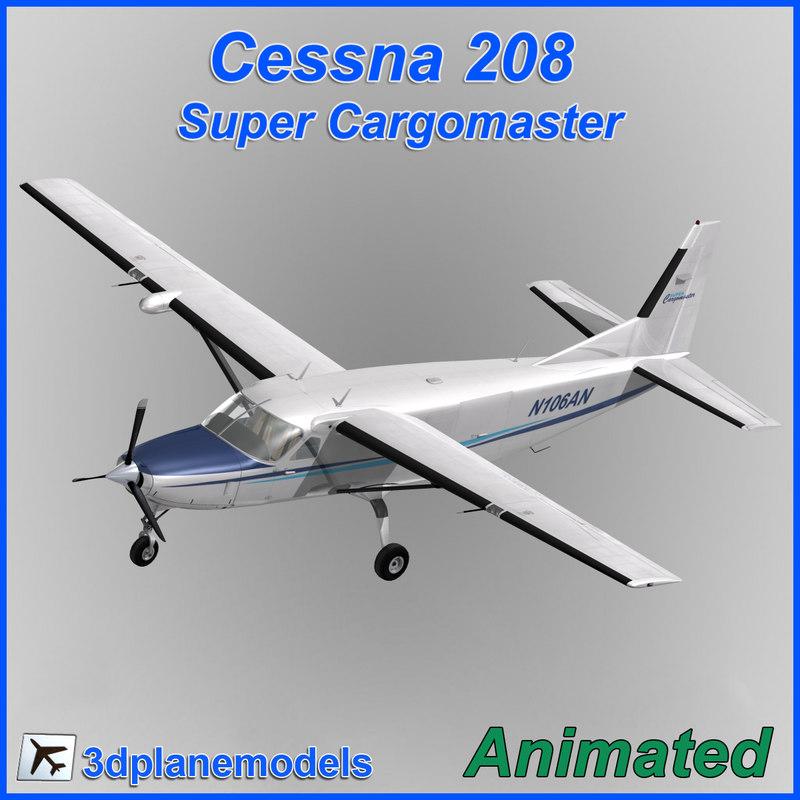 cessna 208 cargo super dxf