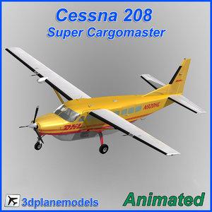 3d model cessna 208 cargo super