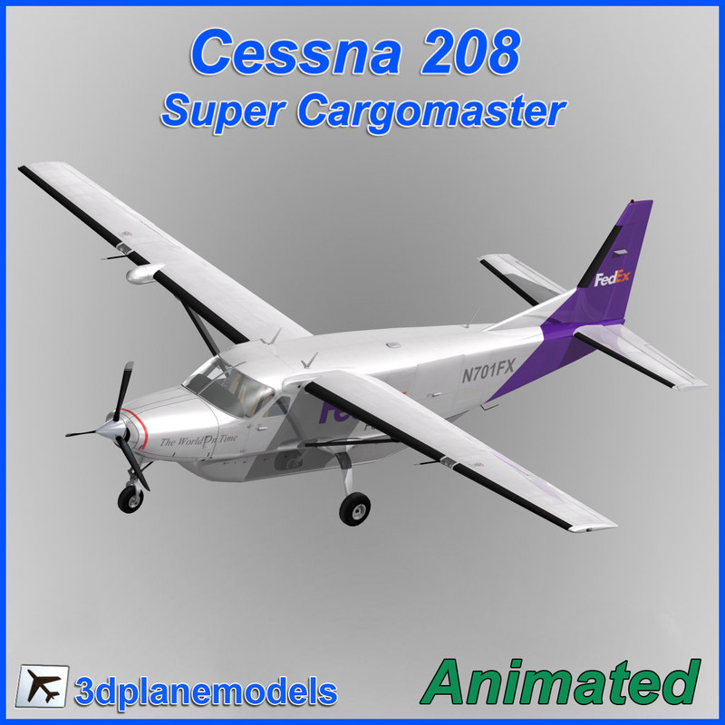 3ds cessna 208 cargo super