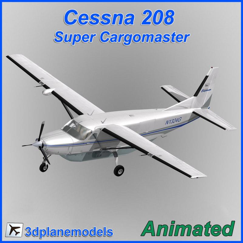 cessna 208 cargo super 3d dxf