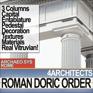 3ds modules entablature columns roman