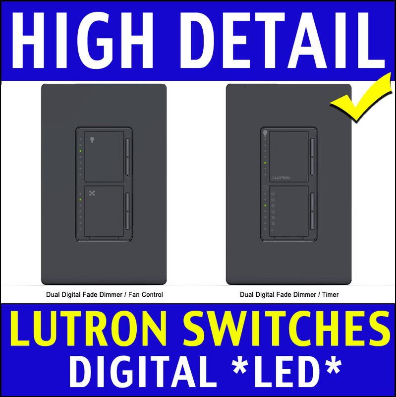 3d model dimmer light switch sleep