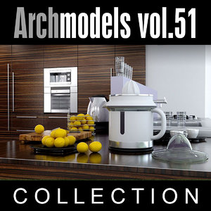 archmodels vol 51 kitchen 3d model