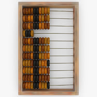 abacus modelled 3d 3ds