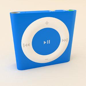 apple ipod shuffle 4th 3d model