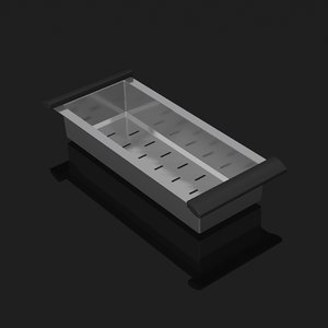 stainless steel colandar 3d model