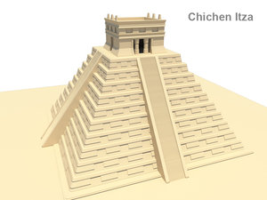 chichen itza 3d model
