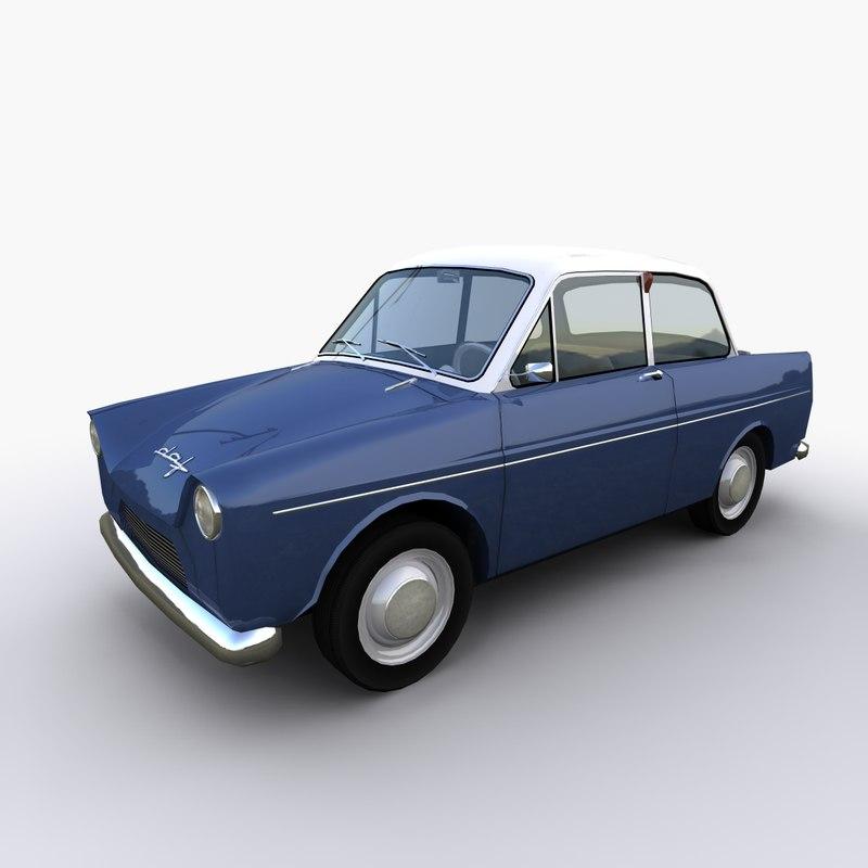 daf 600 car 3d max