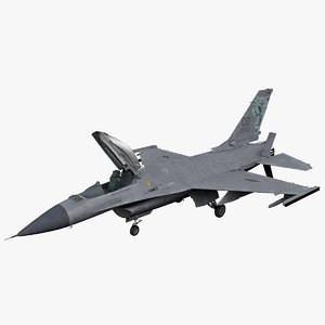 3ds max realistic f-16 rigged