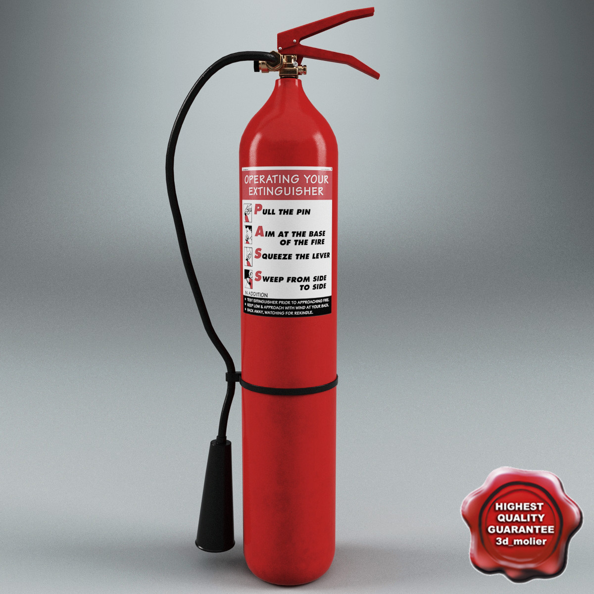extinguisher v6 3d model