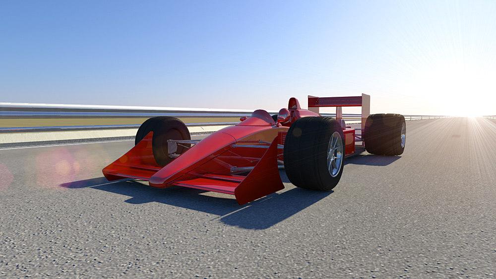 realistic formula racing car 3d model