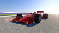 realistic formula racing car 3d model