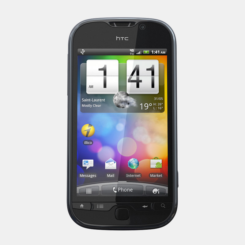 3d htc panache mobile phone model