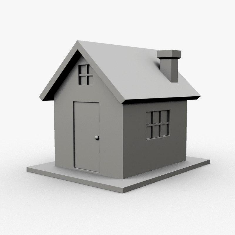 3d home icons symbols model