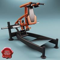 3ds max leg press squat machine