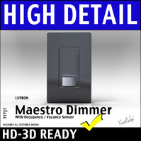 Lutron Maestro Dimmer Switch With LED Vancancy Sensor 3D Model