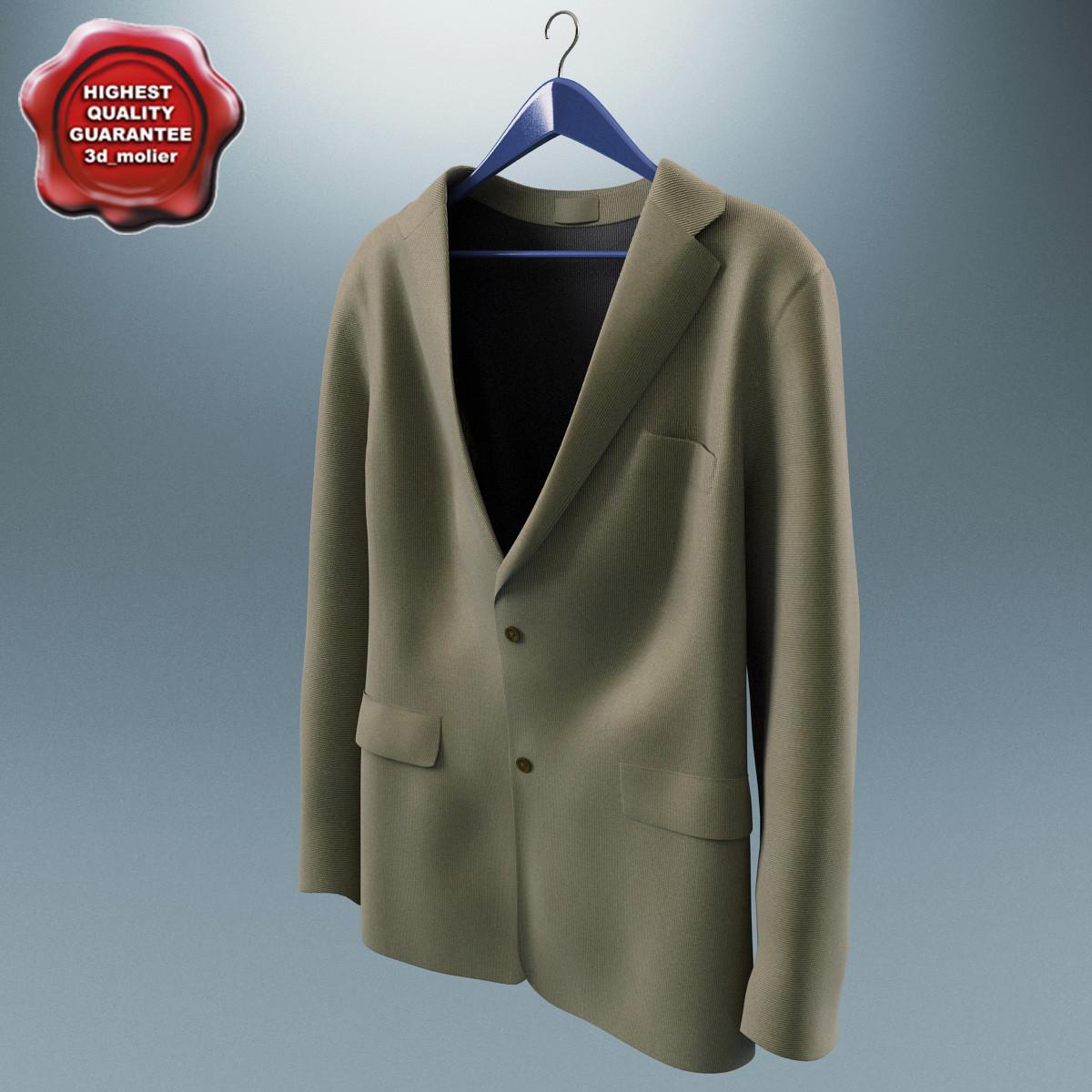 3d men jacket v2 model