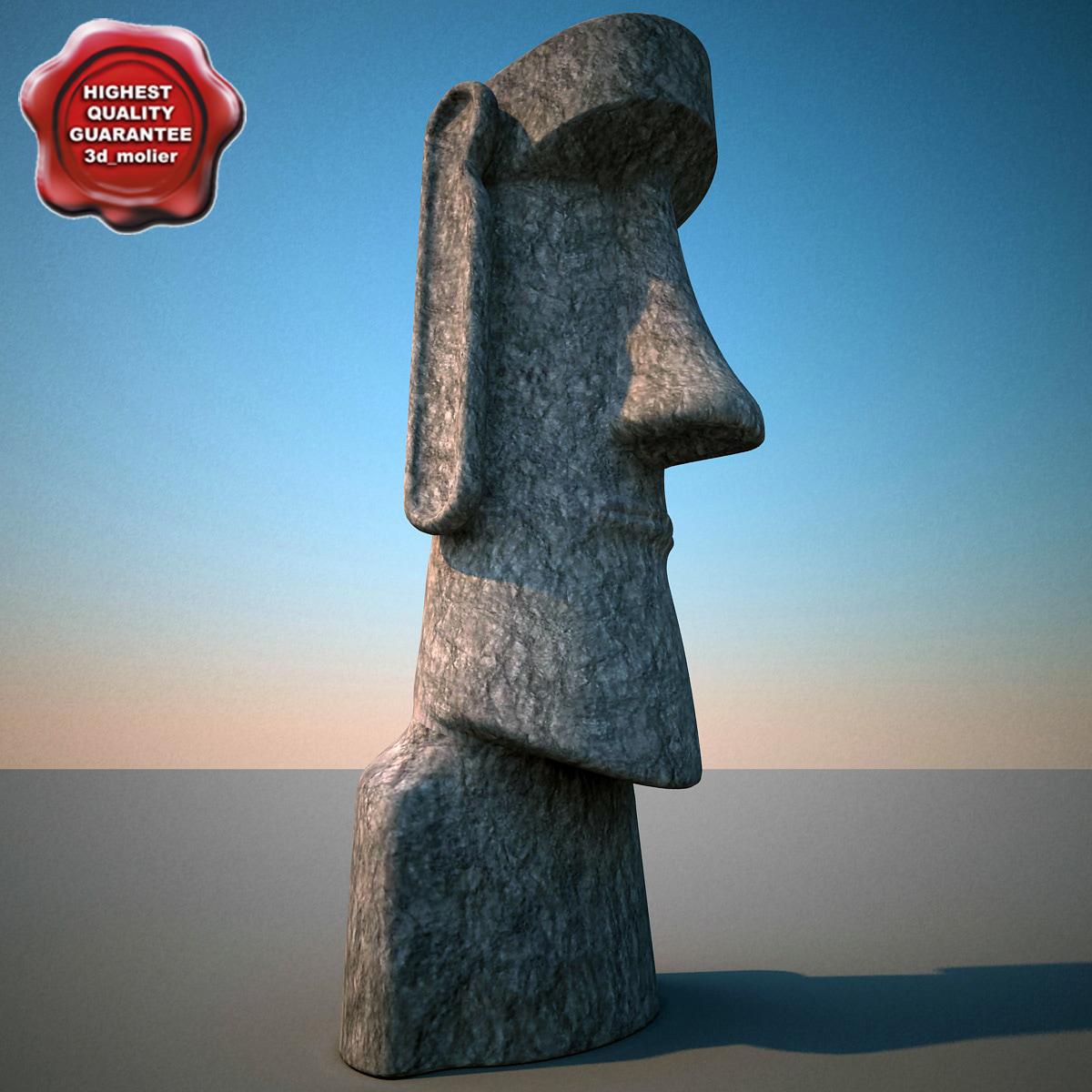 3d moai statue