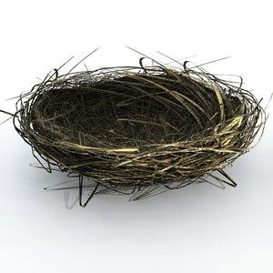 3d bird nest
