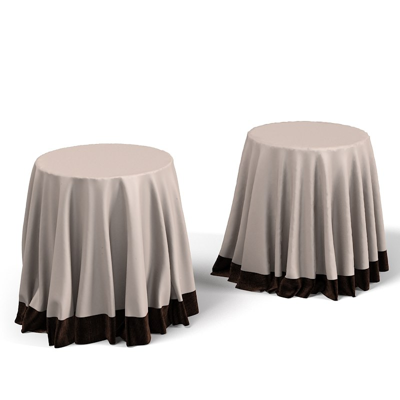 Side Covered D Table Linen Classic Round Tablecloth Traditional Bedside