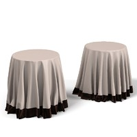3dsmax covered table linen