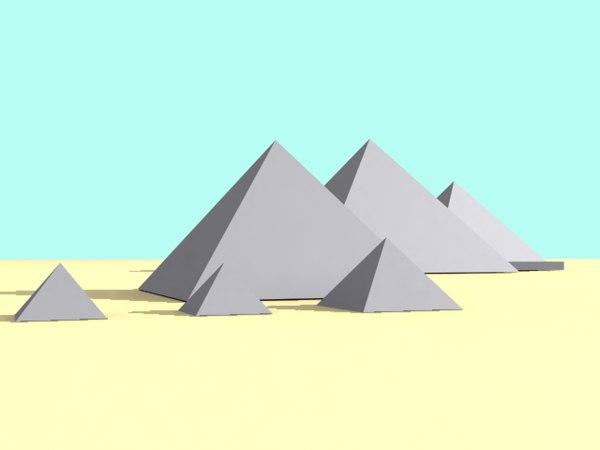 3ds max pyramid giza layout
