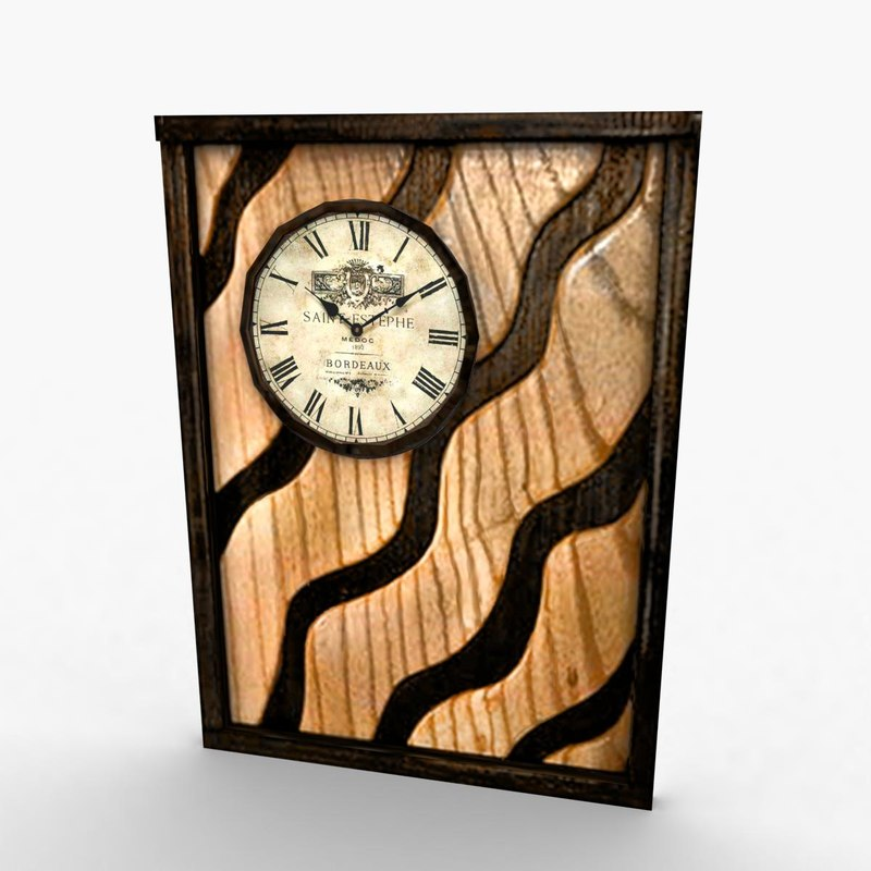 interior solid wall clock 3d max